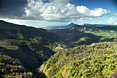 MAURITIUS, a view from the top of Black River Gorges National Park, the home of 1,000 year old trees
