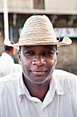 MAURITIUS; street portrait of a food vendor in Port Louis