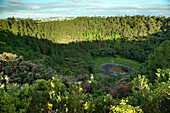MAURITIUS, looking into Troux aux Cerfs crater in the town of Curepipe