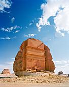 SAUDIA ARABIA, Madain Salah, Nabatean Tombs in a vast landscape