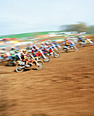USA, Tennessee, the start of a motorcross race