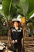 VIETNAM, Hanoi countryside, portrait of rice farmer Nguyen Thi Ha at her home in Nguyen Huu Y village