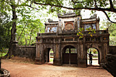VIETNAM, Hue, the entrance into Tu Hieu Pagoda and monastery, adorned in historic Vietnamese architecture