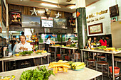 VIETNAM, Saigon, restaurant Pho Hoa aka Pho Hoa Pasteur, a local Vietnamese measures his chopsticks before eating his pho bo (beef pho), Ho Chi Minh City