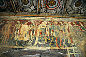 Fresco in the church Marija Na Skrilinah, Central Istria, Croatia