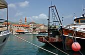 View to Trogir, Dalmatia, Adriatic Coast, Croatia