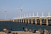 Delta works, protection system against floods and storms, Zeeland, The Netherlands