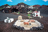 Christmas Manger in Yaiza, Lanzarote, Canary Islands, Spain