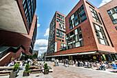 Residential und business building, Uberseequartier, Hafencity, Hamburg, Germany