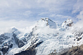 Snow-coverd Huandoy, Paron Valley, Caraz, Huaraz, Ancash, Cordillera Blanca, Peru