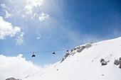 Gondola lift, Mammoth Mountain ski resort, California, USA