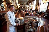Art nouveau cafe in the old city of Prague, Prague, Czech Republic, Europe
