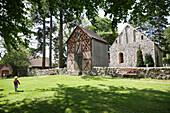 Fieldstone church, Thomsdorf, Boitzenburger Land, Uckermark, Brandenburg, Germany