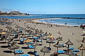 Playa de Las Americas, Beach, Tenerife, Canary Islands, Spain.