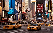USA, New York, by Time Square.