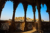 Views of the fort from Salam Singh Ki Haveli  Jaisalmer  Rajasthan  India.