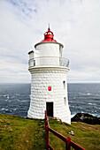 Lighthouse overlooking ocean cliffs