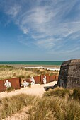 France, Normandy Region, Calvados Department, D-Day Beaches Area, Courseulles Sur Mer, Juno Beach site of WW2 D-Day invasion, ruins of German bunker