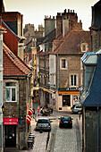 France, Nord-Pas de Calais Region, Pas de Calais Department, Boulogne sur Mer, Haut Ville, Upper City, elevated view