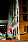 Night time street scene, Dallas, Texas