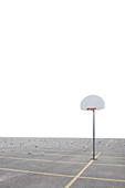 Basketball Net in Parking Lot, Toronto, Ontario