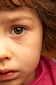 Close Up of Girl with Sad Face