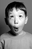 FV5499, Brian Summers, B/W Boy making Funny Face