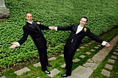 Gay Couple Celebrating their Wedding, Toronto, Ontario