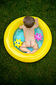 Baby in Inflatable Pool