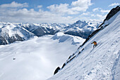 Skiing off unnamed summit, Marriot Basin area, Coast Mountains, British Columbia