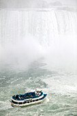 Tourists on the Maid of the Mist Ferry Boat, Niagara Falls, Ontario