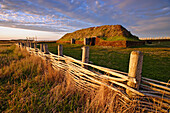 View of the Norse Buildings, L'Anse aux Meadows National Historic Site, St-Lunaire-Griquet, Newfoundland