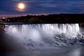 The American Falls at Night, Niagara Falls, New York, USA