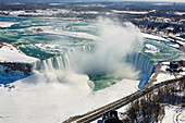 Horseshoe Falls in Winter, Niagara Falls, Ontario