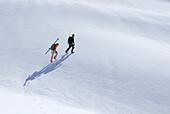 Skiers below First Pump Peak at Mount Seymour, Mount Seymour Provincial Park, Vancouver, British Columbia
