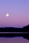 Artist's Choice: Moon Rising on a Purple Sky, Vancouver Island, British Columbia