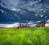 Old abandonded Truck near Empress, Saskatchewan