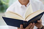 Man Reading Book, Toronto, Ontario
