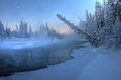 Sunrise over Morley River, Yukon