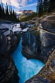 Mistaya Canyon and Mount Sarbach, Banff National Park, Alberta
