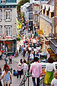 People on Petit-Champlain street in Quartier Petit-Champlain, Quebec