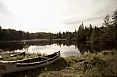 Two Canoes by a Pond, North Bay, Ontario