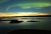 Aurora borealis over the MacKenzie River, Fort Simpson, Northwest Territories