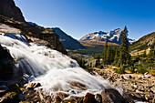 Victoria Falls and Odaray Mountain, Yoho National Park, British Columbia
