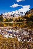 Schaffer Lake and Mount Huber, Yoho National Park, British Columbia