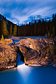 Stream and Mount Stephen at dusk, Yoho National Park, British Columbia