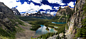 View of Lake O'Hara on the Wiwaxy Trail, Yoho National Park, British Columbia, Canada
