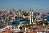 Republic of Turkey, Istanbul, The New Mosque and the Galata Bridge