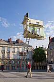 'France, Pays de la Loire, Nantes, Place du Bouffay, ''A journey to Nantes'', Summer 2012, Monte-Meubles l'Ultime Déménagement'' by Léandro Erlich'