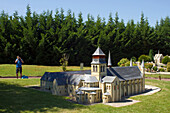 France, Loire Valley, Amboise, Mini-chateaux Val de Loire - a theme park displaying miniatures of The Loire valley's châteaux, Fontevraud Abbey
